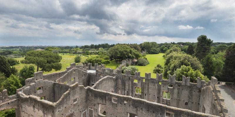 Il Castrum Caetani visto dall'alto.