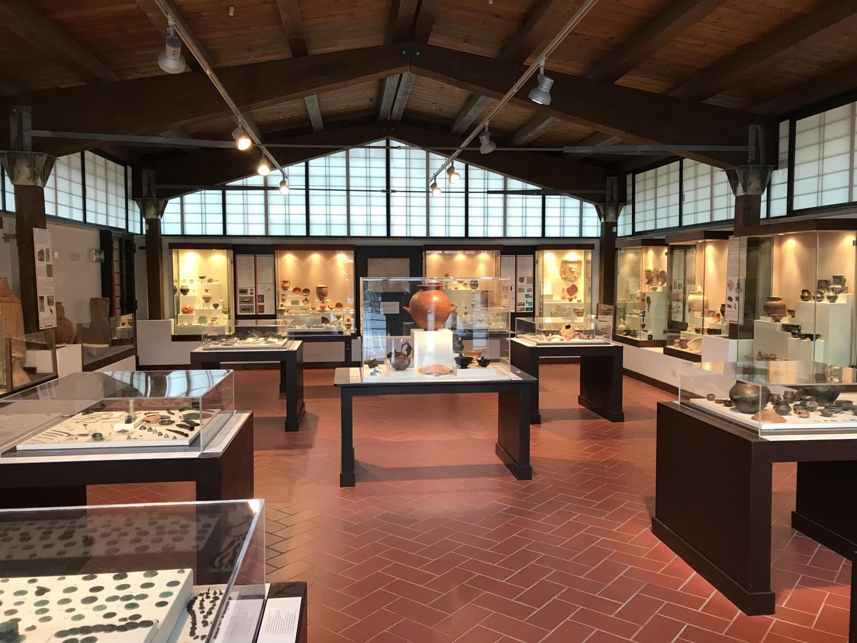 Interno dell'Antiquarium di Lucrezia Romana sala cisterna