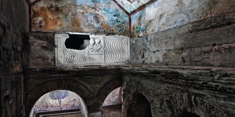 Interno della Tomba dei Pancrazi.