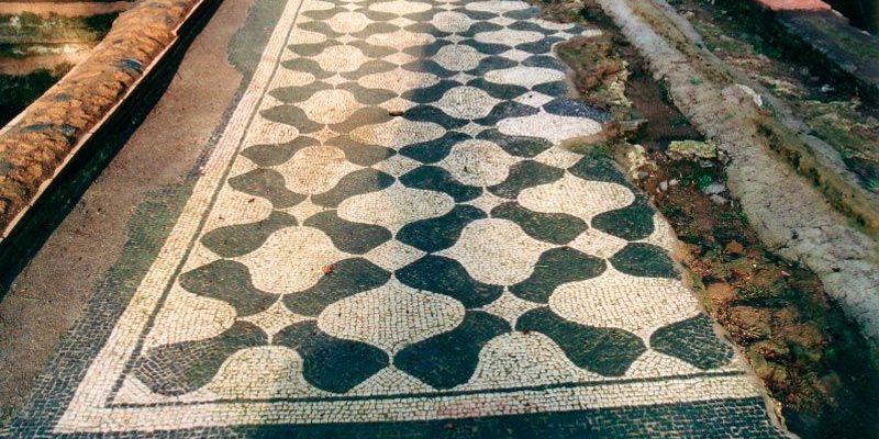 I pavimenti in mosaico delle terme romane.