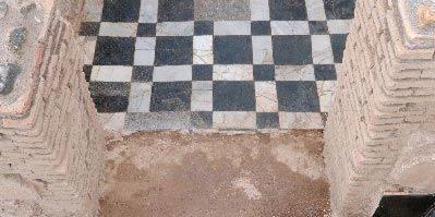 I pavimenti in marmi colorati della Villa dei Quintili.
