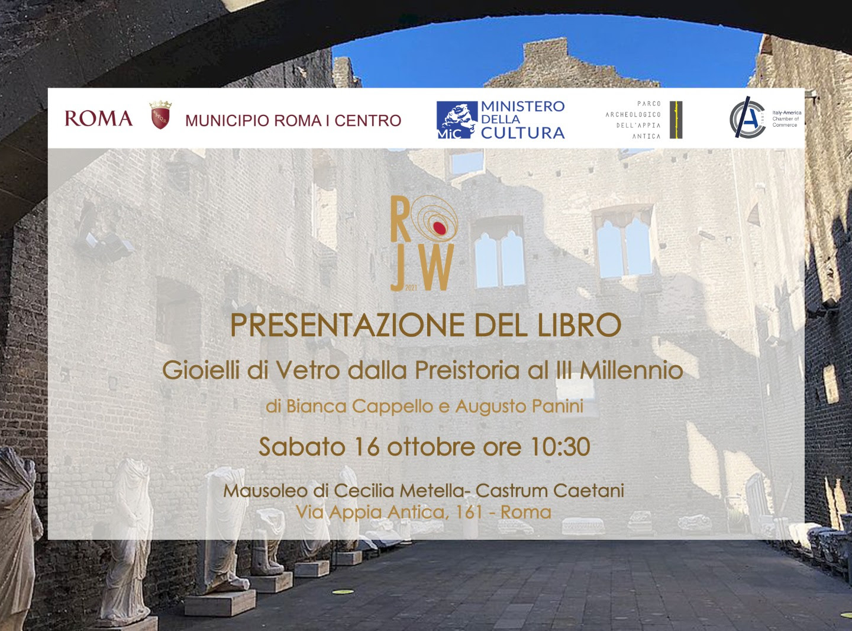 Presentazione del libro 'Gioielli di Vetro dalla Preistoria al III Millennio'